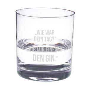 Gin Glas - Wie war Dein Tag